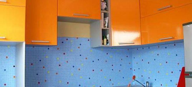 Оранжевая угловая кухня 7,5 кв.м
