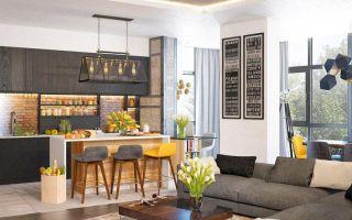 Дизайн кухни-гостиной – простор и функциональность (60 фото)