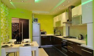 Натяжной потолок на кухне как элемент дизайна помещения (фото)