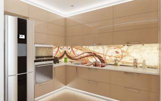 Кухня в шоколадном цвете, капучино: глянец кофе с молоком (90 фото)