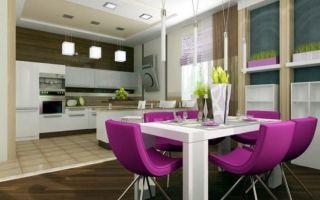 Дизайн интерьера кухни-столовой: как правильно совместить