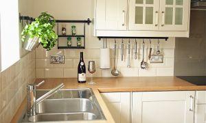 Рейлинги для кухни: удобные «вешалки» для полезных мелочей