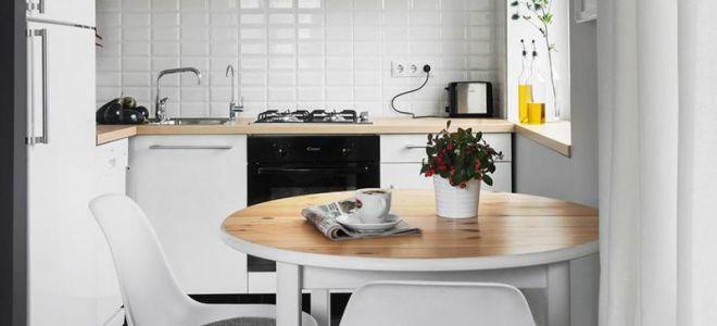 Обеденный стол для маленькой кухни: тонкости выбора кухонного гарнитура