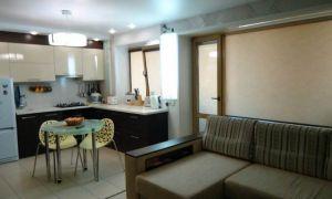 Дизайн угловой кухни 7 кв.м, совмещенной с гостиной