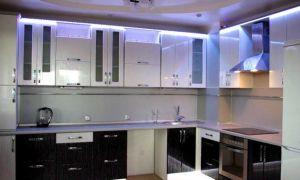 Подсветка для кухни под шкафы светодиодная: фото и описание