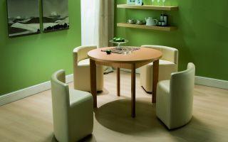 Выбираем кухонные столы и стулья для маленькой кухни