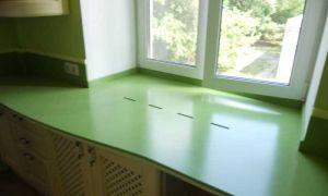 Монтаж и дизайн подоконника-столешницы на кухне