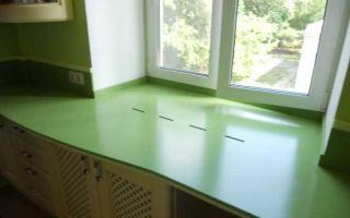 Подоконник-столешница на кухне: обзор материалов, фото в интерьере