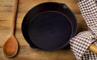 Как очистить чугунную сковороду от пригоревшего нагара и ржавчины в домашних условиях?
