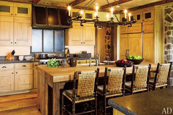 Сельские кухни интерьеры фото с