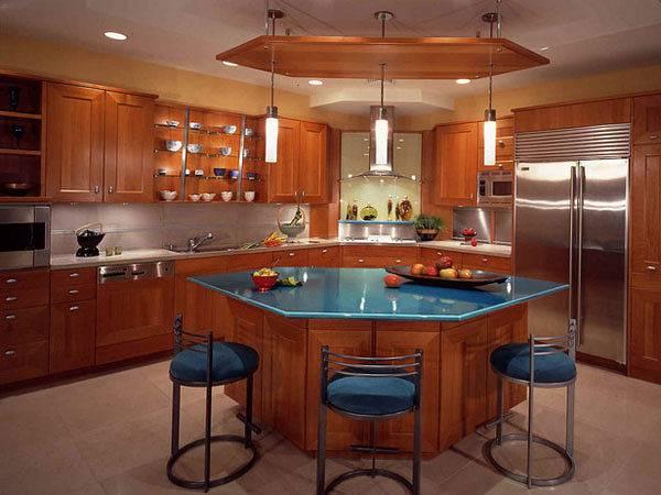 Остров стол на кухне