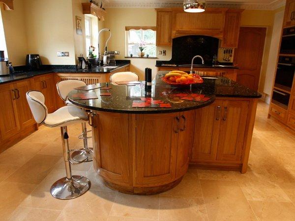 Остров на кухне с барной стойкой