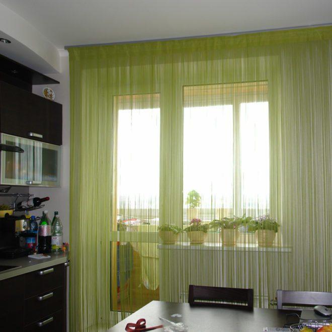 Как сделать шторы нитями 879