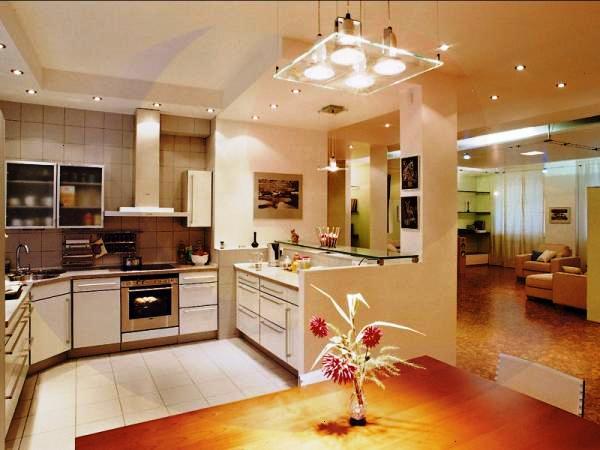 стиль освещения кухни