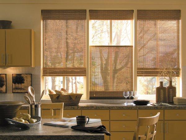 Варианты штор для кухни