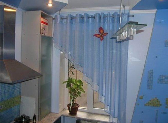 в синих тонах фото шторы кухня