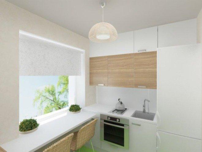 Интерьер кухни 6 квадратных метра
