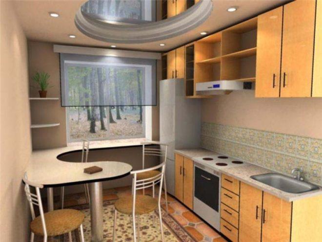 Кухня 7 кв.м с окном дизайн фото