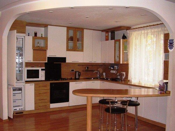 Барная кухня в гостиной