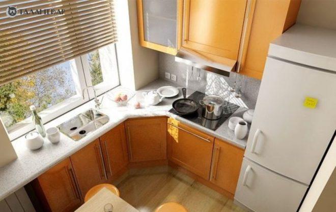 Дизайн и оформление при ремонте кухни 6 кв.м.