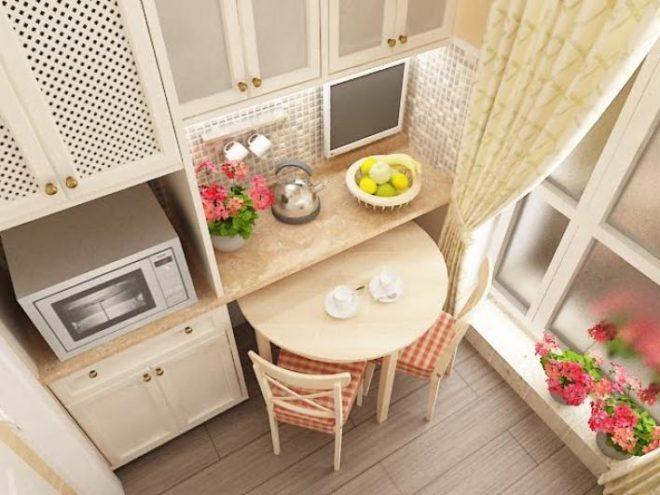 Прованс и решения планировки маленькой кухни
