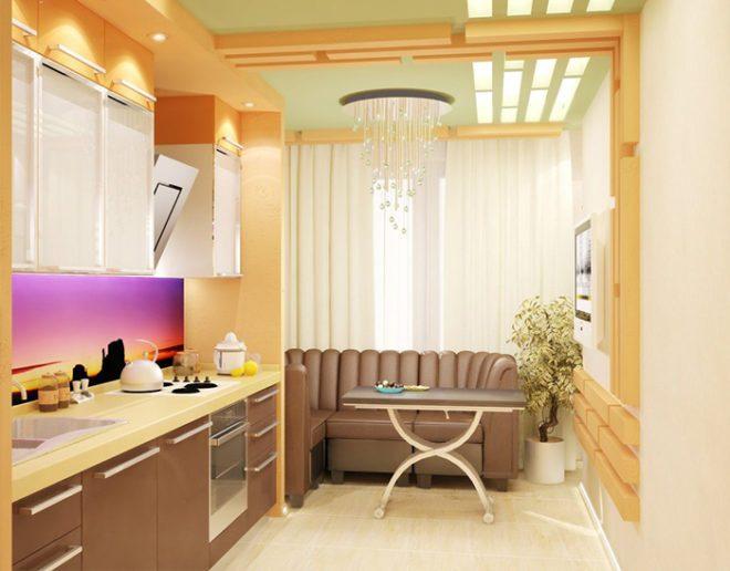 dizajn-kukhni-s-balkonom