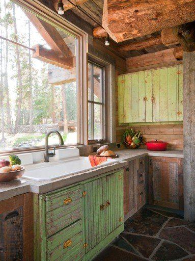 мебель под старину в деревянном доме