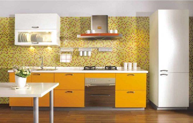 шкафы на маленькой кухне