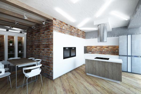 потолок в кухне лофт