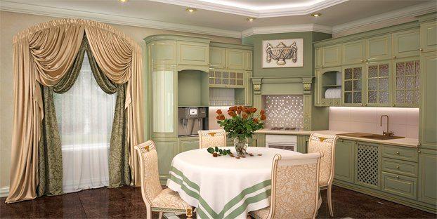 шторы на итальянской кухне