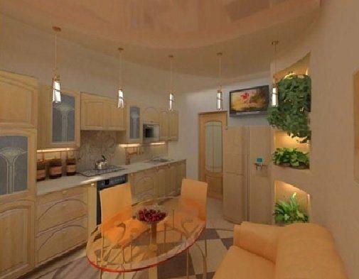 столешница в интерьере кухни