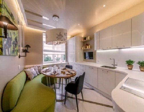 мебель для нестандартной кухни