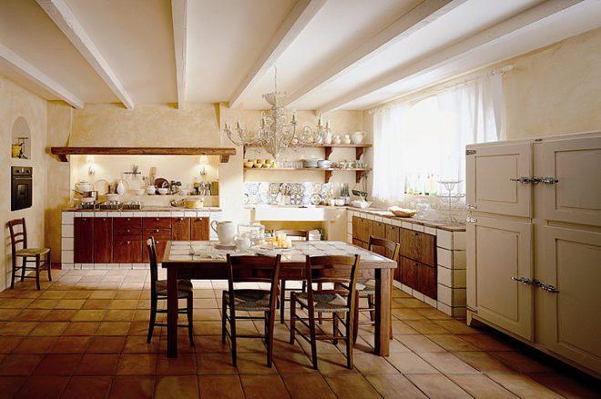 освещение на итальянской кухне