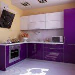 Дизайн сиреневой кухни: фото, правила гармоничных сочетаний