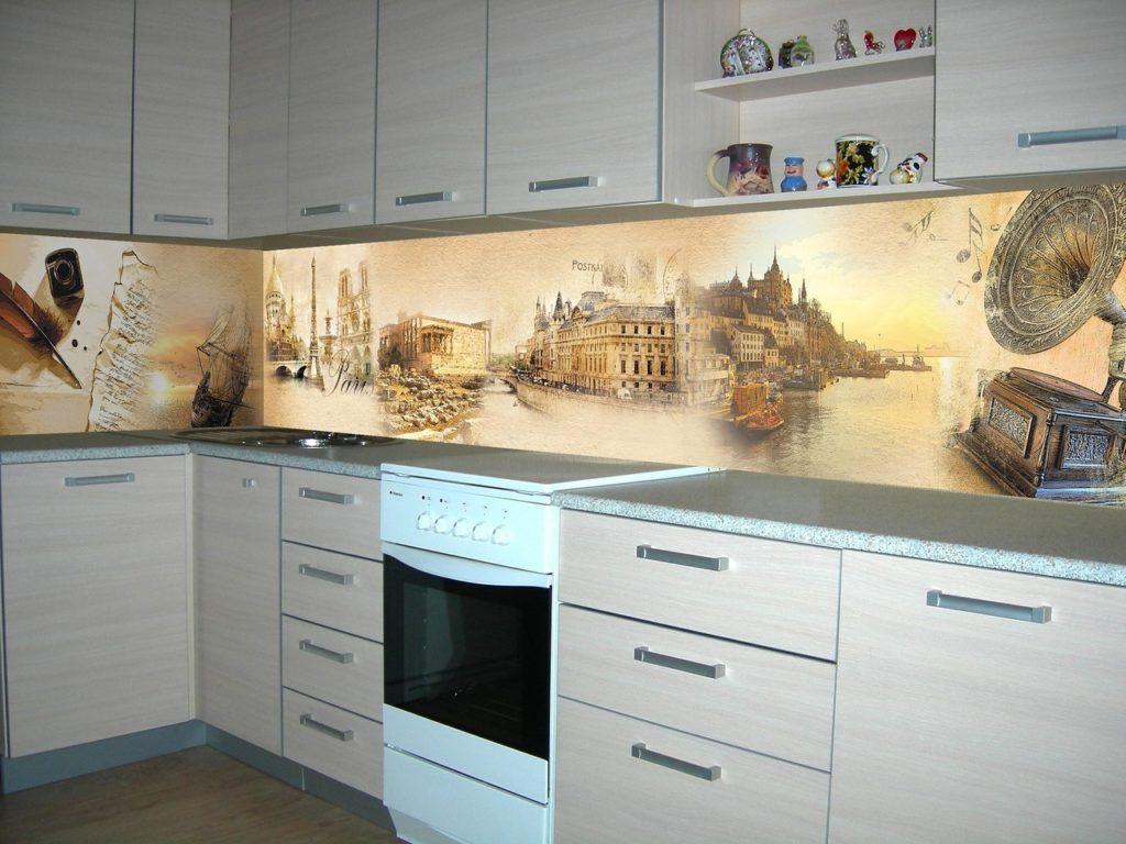 фотоплитка на фартук кухни