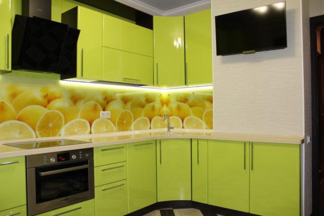 Мойка на кухне в углу в стиле модерн