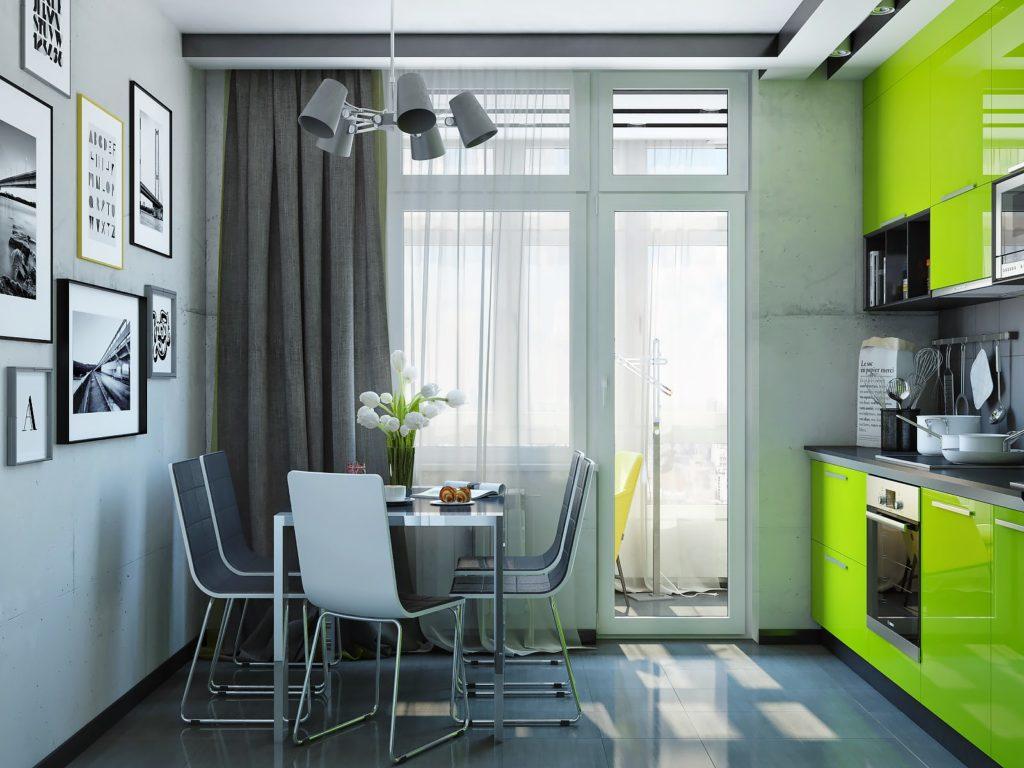 зеленая кухня в экологическом стиле
