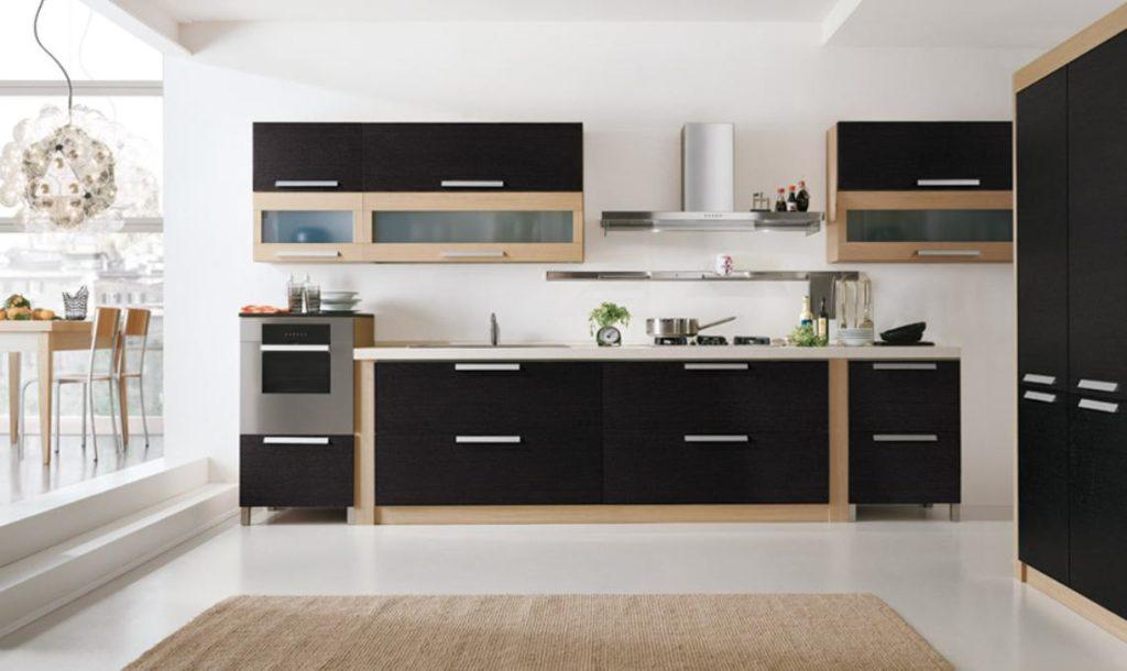 кухня в черном цвете 1