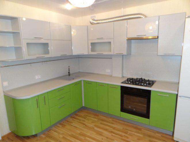 обои к зеленой кухне