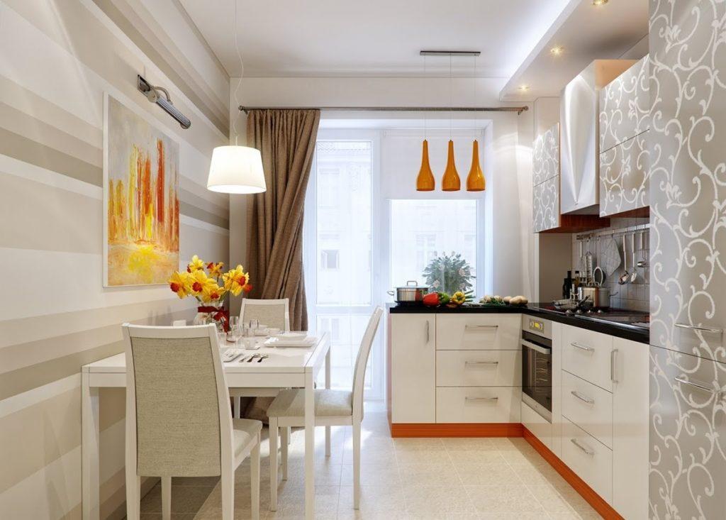 Дизайн проект кухни в светлых тонах
