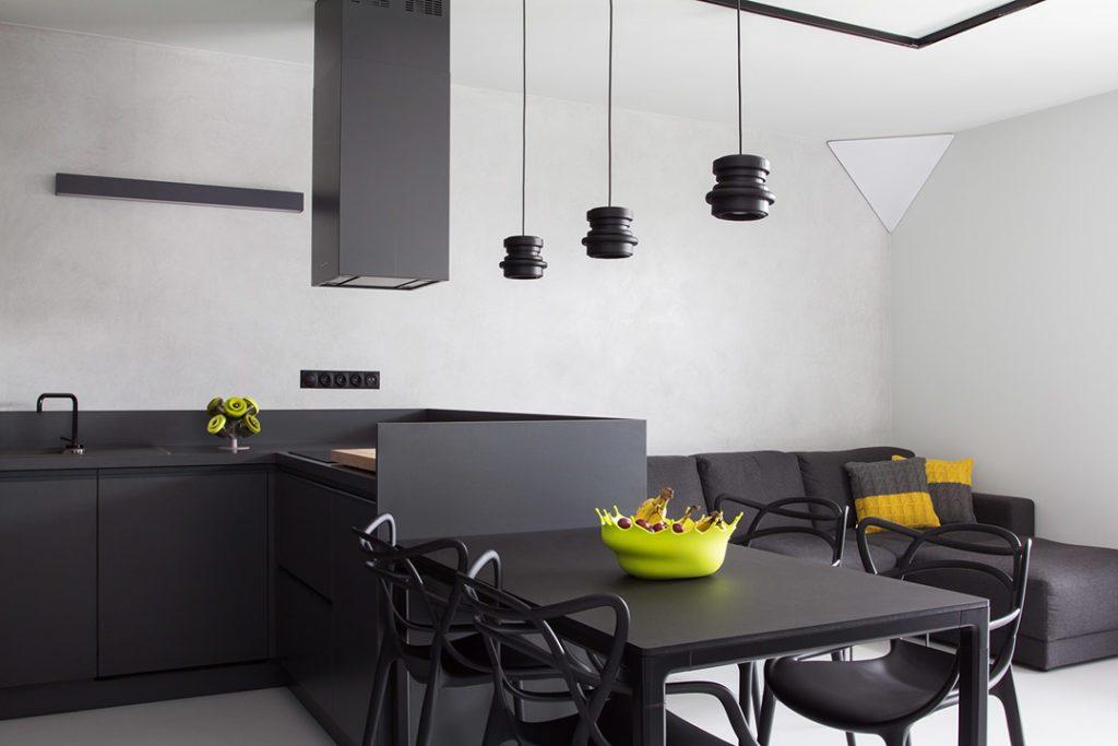 Современный стиль кухни студии