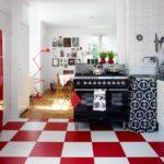 кухня бордового цвета 2