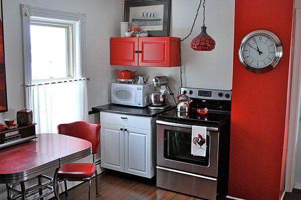 кухня бордового цвета 3