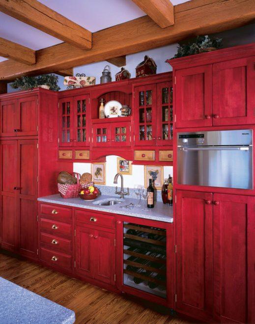 красная кухня кантри