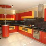 сочетания цветов на красной кухне 2