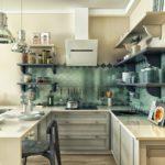 светлая кухня 8 кв