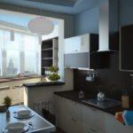 кухня с балконом 1