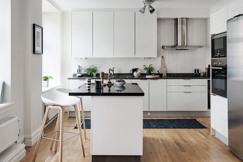 Кухня 3 на 3 в скандинавском стиле