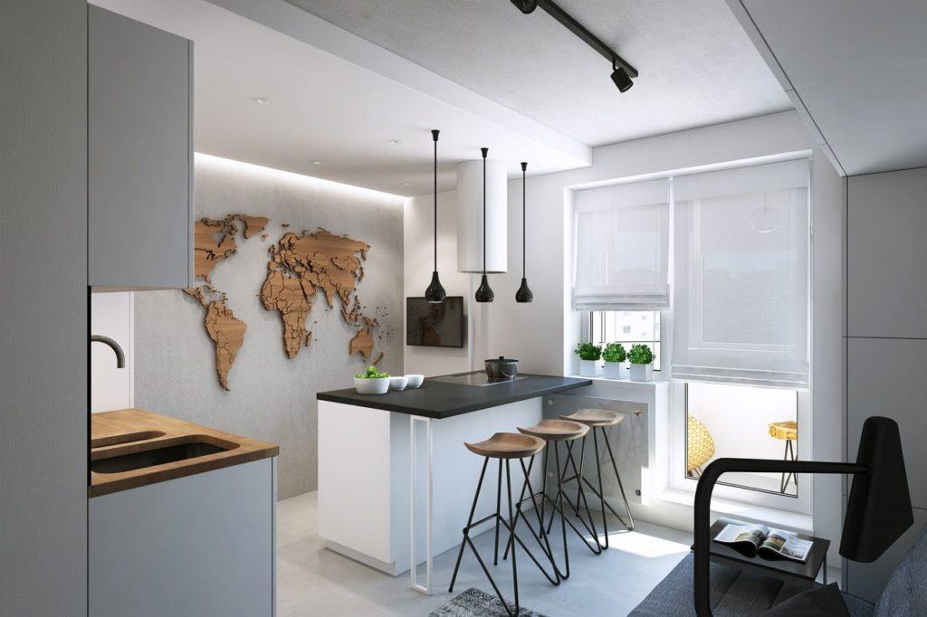 Дизайн кухни три на три
