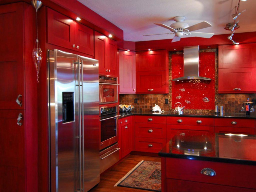 Дизайн интерьера Г-образной кухни